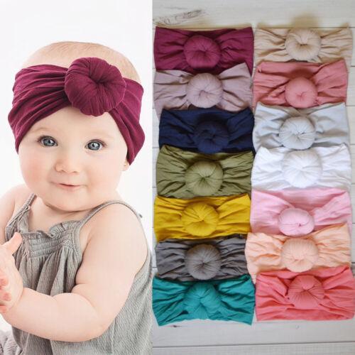 Baby Girls Cute Knot Cotton Headband Turban For Newborns Elastic Hair Head Band