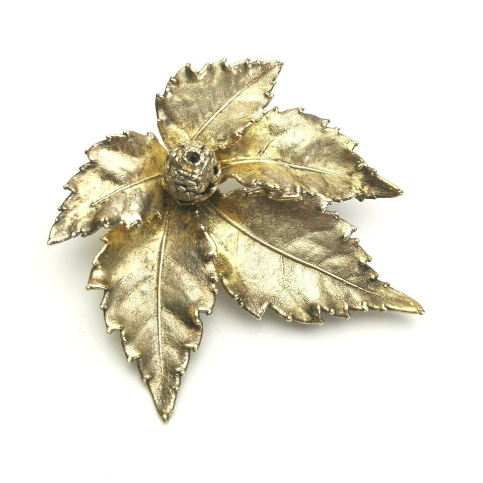 Broche, sølv, flora danica eggert sølv broche