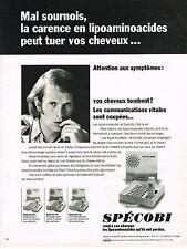 PUBLICITE  1974   SPECOBI     soins & entretien des cheveux