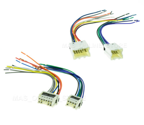 New Car Stereo Radio Receiver Male /& Female Wiring Harness For Select Nissan