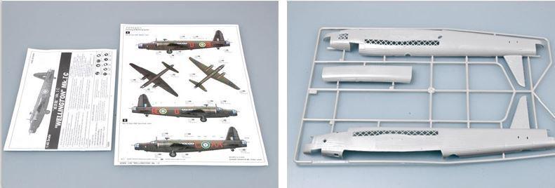 Trumpeter 1:48 Wellington MK.1C IC Transport Aircraft Plastic Model Kit #02808U