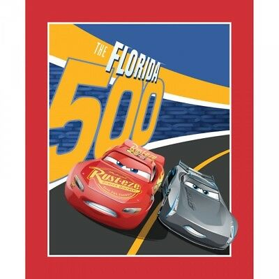 Disney Pixar Cars 3 Racing Fabric McQueen 100/% Cotton Storm /& Cruz