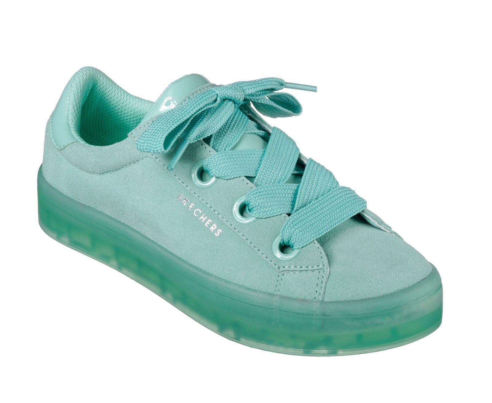 Skechers Street NEW Hi Lites Suede City Aqua 3-8 mint fashion trainers Größes 3-8 Aqua 4a66a9