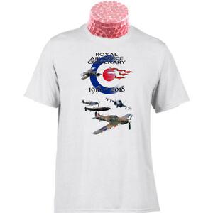 10/% donnés à la RAF Benevolent Fund RAF 100 Année Anniversaire Cadeau T Shirt
