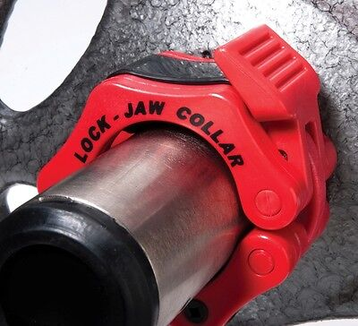 Lock-Jaw Olympic Barbell Weight Collars Clamps Lockjaw Weightlifting Crossfit