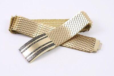 Dg168 Capannone Cintura In Vita Cintura Metallo Oro Elastici 65 - 85 Cm Vintage-mostra Il Titolo Originale