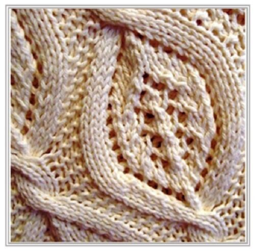 BB009 Knitting Pattern belle feuille sur le vent Baby Blanket Throw