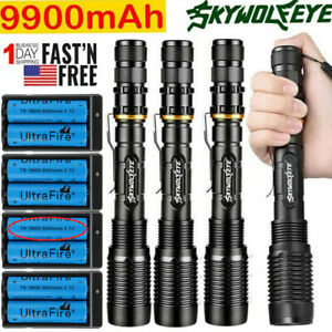 US-Tactical-350000Lumens-5Modes-T6-LED-18650-Flashlight-Aluminum-Zoom-Torch-Lot