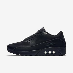 Nike-Air-Max-90-Tennis-Hommes-Chaussures-Noires-Taille-10