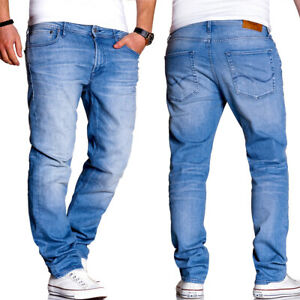 Jack-amp-jones-Jeans-Clark-regular-straight-fit-pantalones-azul-claro-nuevo