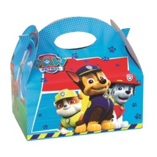 Childrens Girls//Boys PAW Patrol Food Boxes Picnic Carry Meal Box Birthday Party