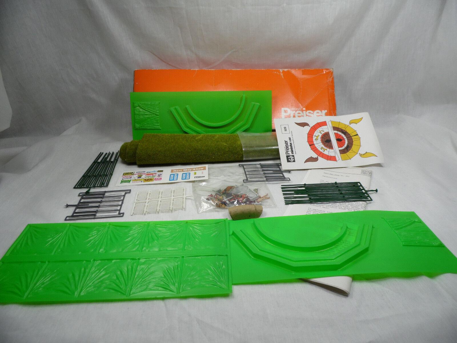 H1205, Preiser 642 Karl May Wild West Show Winnetou Figuressatz mint BOX 1 87 H0