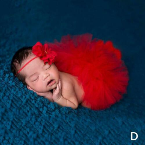Newborn Baby Girl Tutu Skirt Set Costume For Photography Photo Prop Outfits