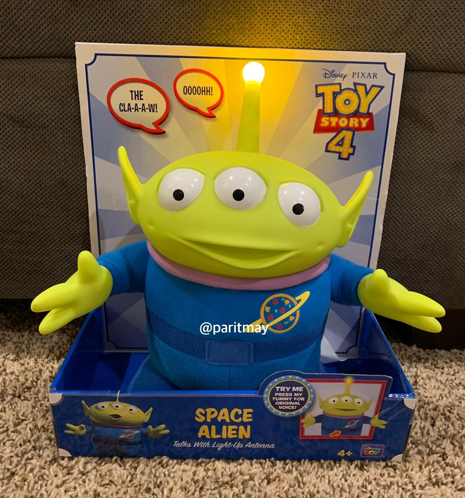 NEW    Toy Story 4 SPACE ALIEN Talks with Light-Up Antenna 11  (READY TO SHIP)