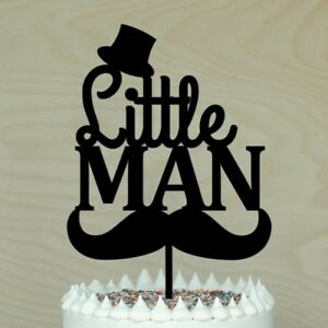 Image Is Loading Little Man Cake Topper Baby Shower 1st Birthday