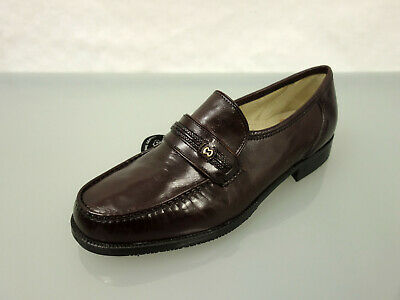 NEU GIORGIO RICCI Leder Slipper Gr.45 Loafer Schuhe Leather Shoes Braun Bordeaux | eBay