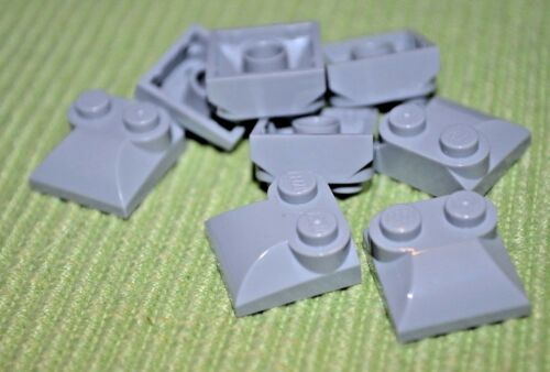 (8) 2x2 Light Gray Duck Nose Shaped Cover Bricks ~ Lego  ~ NEW ~