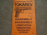 Tokarev 7.62x25 9mm Pistol Service Manual 46 Pg.