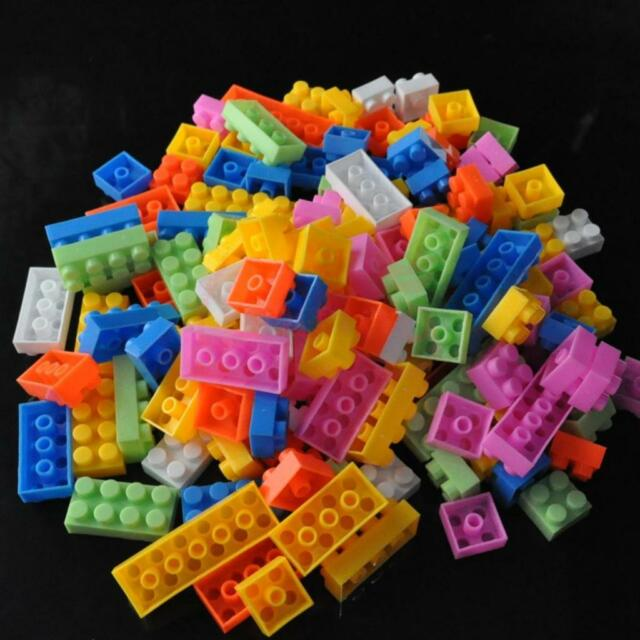140pcs Assorted Plastic Children Puzzle Educational Building Blocks Bricks Toy