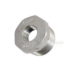 "8pcs 1//4/"" Male x 1//8/"" Female M//F Thread Reducer Bushing Pipe Fitting SS 304 NPT"
