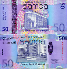SAMOA 50 Tala Banknote World Money UNC Currency South Pacific BILL p41 2008 Note