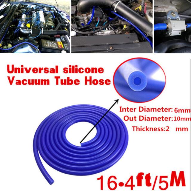 6mm x 5M BLACK SILICONE VACUUM HOSE TUBING SILICON PIPE