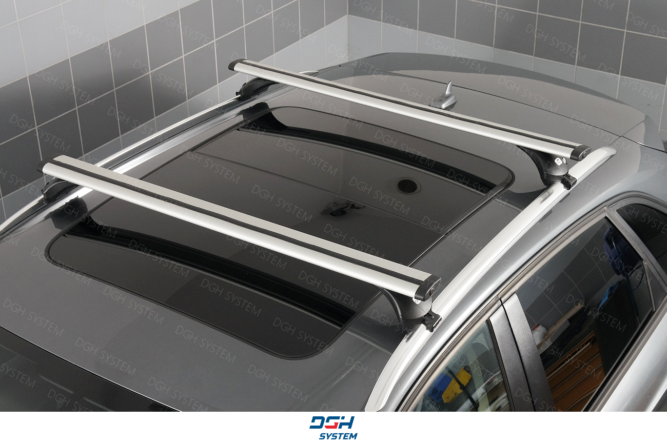 Volvo XC60 SUV 08-17 AMOS Aluminium Roof Rack Cross Bars closed roof rails