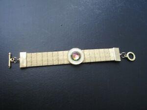 BRACELET - 1980 - GUERLAIN - Metal doré resine cristal - L=15cm - #449