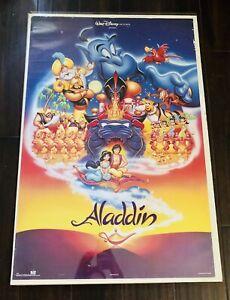 "1992 Disney Aladdin Original Movie Theater 35""X23"" Poster USA"