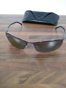 Ray Ban Glasses Top Bar RB3183 Silver Polarized Sunglasses ...