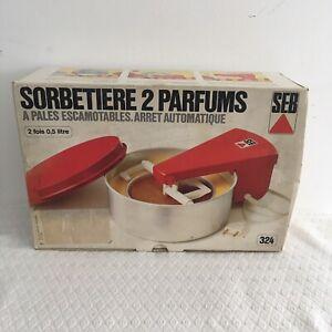 SORBETIERE SEB 2 PARFUMS TYPE 324. LIVRET SORBETS & GLACES. Neuve Jamais Servie
