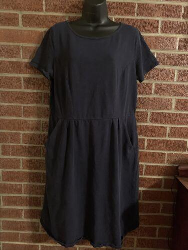 Boden Phoebe Dress Navy Jersey Knit Pockets 14
