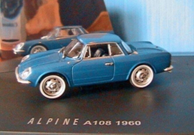 RENAULT ALPINE A 108 1960 BLEU 1 43 UNIVERSAL HOBBIES bleu bleu VEHICULE rougeUIT