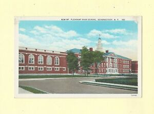 NY-Schenectady-1908-29-antique-postcard-NEW-MT-PLEASANT-HIGH-SCHOOL-Education
