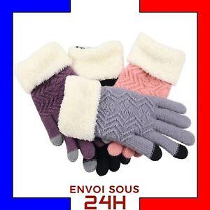 Gants-laine-tactile-hiver-femme-Gloves-gant-enfant-chaud-smartphone-portable
