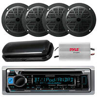 Kenwood Marine Cd Mp3 Usb Input Am/fm Stereo 4 X 4 Speakers /800w Amp Cover on sale