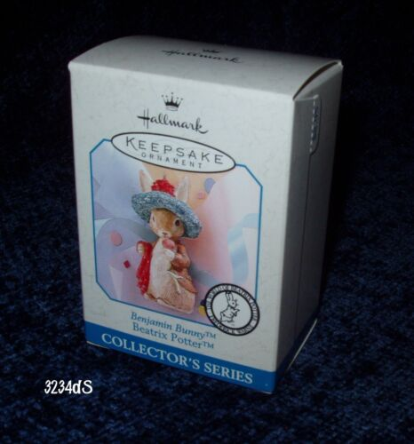 NEW & MINT 1998 Hallmark BENJAMIN BUNNY #3 Beatrix Potter Spring Ornament Series