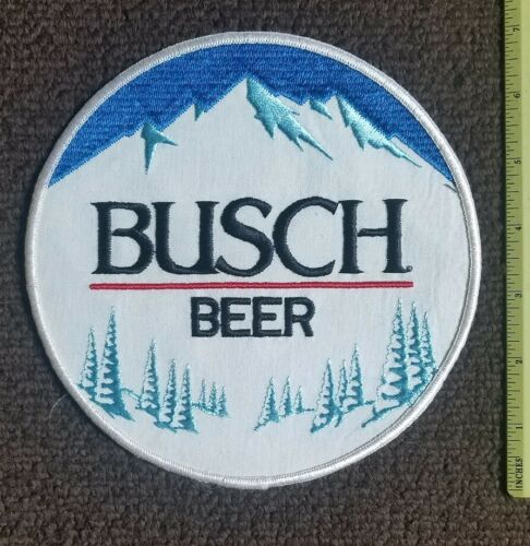 New Old Stock LARGE BUSCH BEER Pale Lager Collectors Patch Vintage