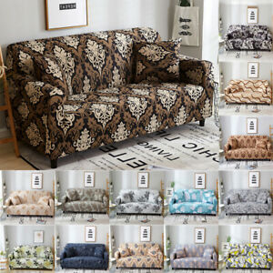 1-4 Seat Floral Sofa Cover Slipcover Stretch Couch Cover Universial Home Decor
