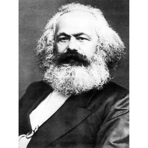 Portrait Political Theorist Philosopher Karl Marx Old Canvas Wall Art Poster