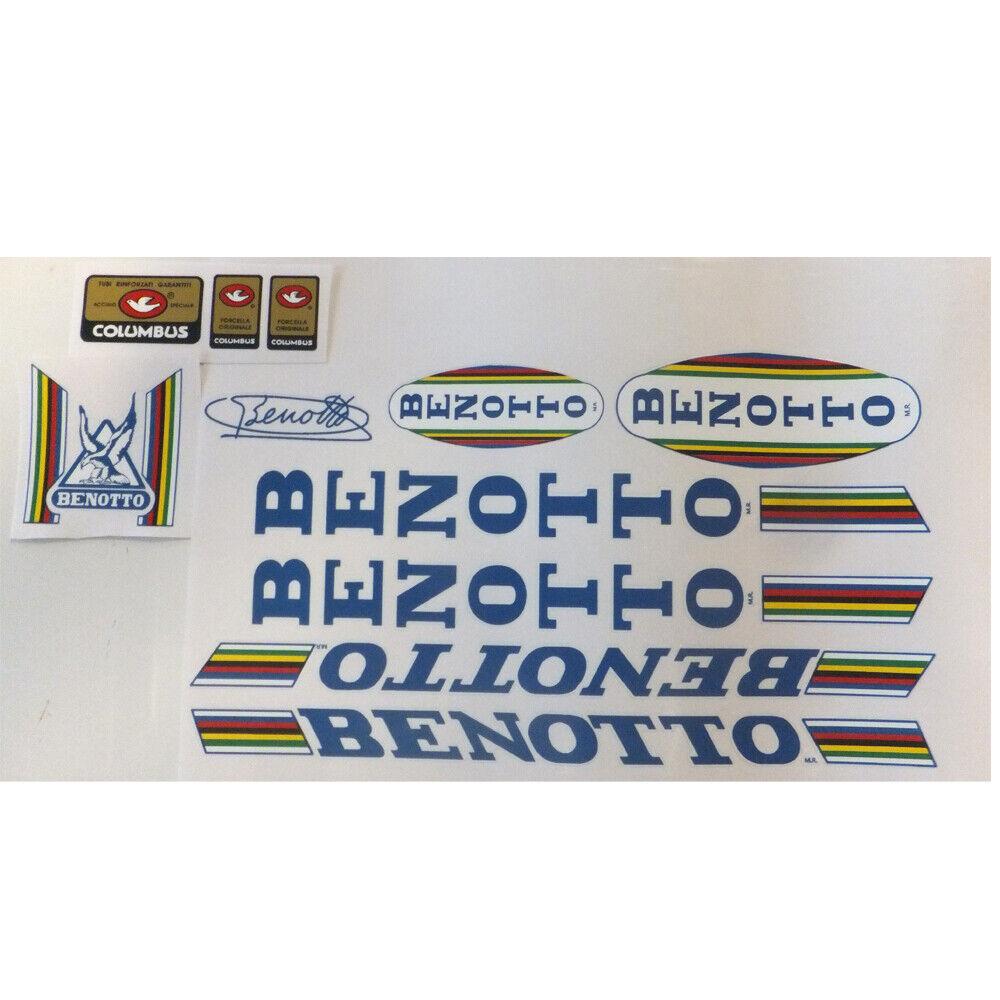 Benotto 80s Vintage Decal Set para Campagnolo Ride  nuevo  Azul o Rojo