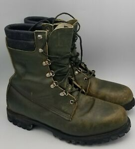 Mens Vntg Browning Green Leather