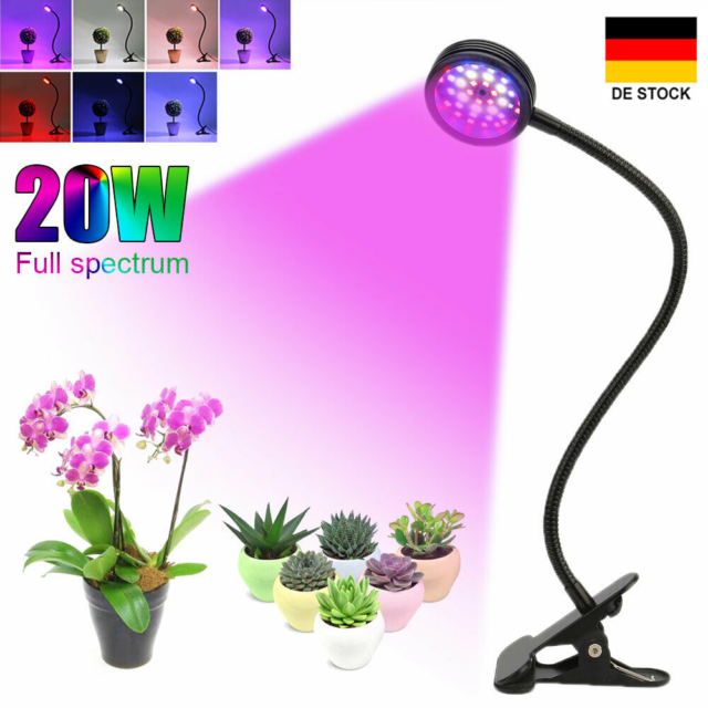 27W LED Grow Light Lamp Wuchs Licht Pflanzenlampe Vollspektrum für Gemüse Blumen