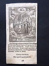 Kupferstich um 1720 -  S. OTHO / Otto Conf.  engraving, holy card, santino