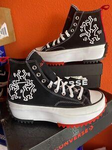 Converse Keith Haring ejecutar Star Chuck Taylor Plataforma Tenis Bota Talla 4.5 37.5
