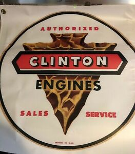 Clinton-Engines-Sales-and-Service-Banner-2-Foot-Square