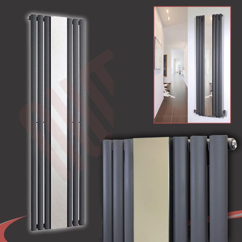 499mm (w) x 1 800 mm (h)  BRECON  miroir anthracite 3953btu radiateur miroir vertical