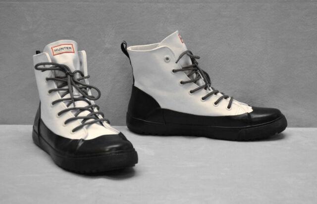 Men 7.5  Women 9.5 White Black boots HUNTER Shoes Target Dipped Canvas Sneaker