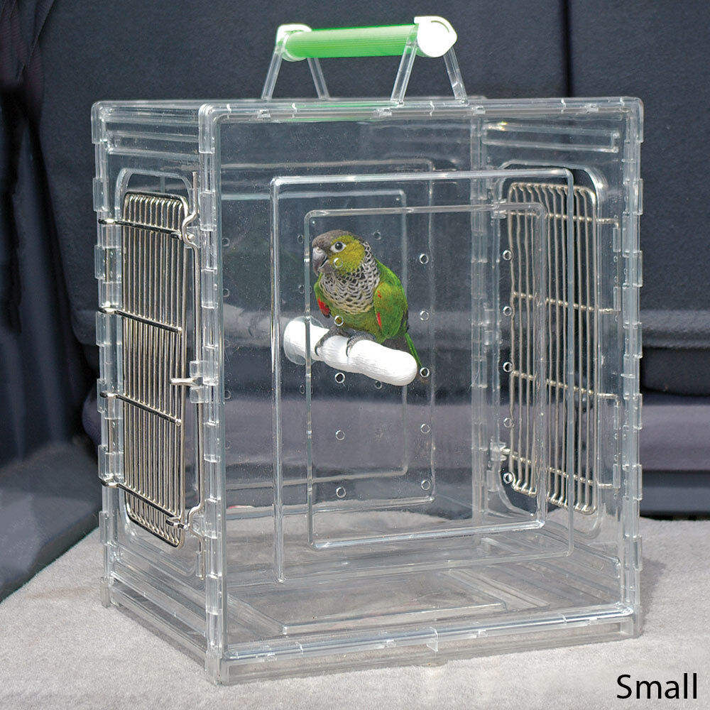 Parred Pet Bird Travel Cage Crate Carrier