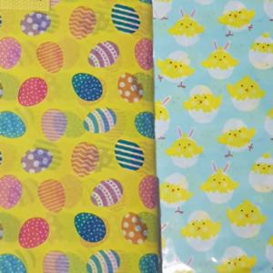 Pâques 10 feuilles de papier tissu 50 cm x 70 cm jaune d/'œuf ou bleu poussin Designs
